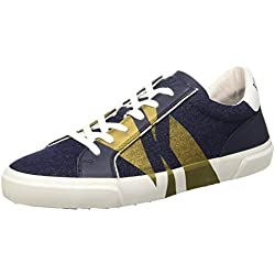 Bikkembergs Rubb-Er 669 L.Shoe M Denim/Leather, Scarpe Low-Top Uomo