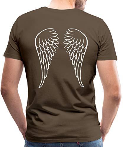 Engel Göttliche Kostüm - Spreadshirt Engel Flügel Männer Premium T-Shirt, 5XL, Edelbraun