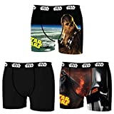 Star Wars Herren Boxershorts, R2D2, Chewbacca, Darth Vader, T-Fighter, Druide BB8 (M/5/48, Dreierpack No.3)