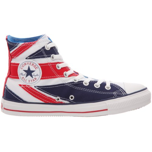 Converse Chuck Taylor All Star British Flag Hi, Basket mode mixte adulte Blanc bleu rouge