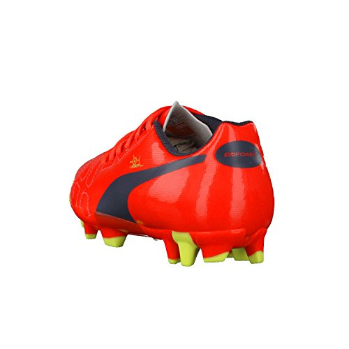 Puma - Evo Power 4 FG Junior, Scarpe da calcio , unisex (Rot (fluro peach-ombre blue-fluro yellow 01))