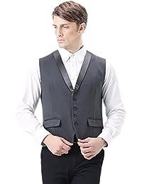Zicac Herren Anzug Weste Casual Business Klassik Slim Fit Weste auch für Hochzeit