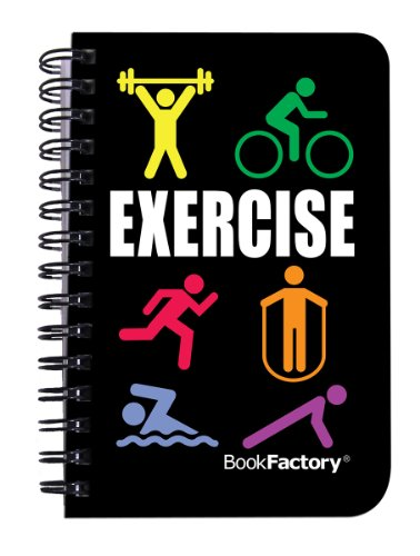 BookFactory-Exercise-Journal-Mini-Exercise-Diary-Fitness-Notebook-Exercise-Log-Book-120-pages-3-12-x-5-14-Pocket-Sized-Durable-Thick-Translucent-Cover-High-Quality-Wire-O-Binding-JOU-120-M3CW-A-Exerci