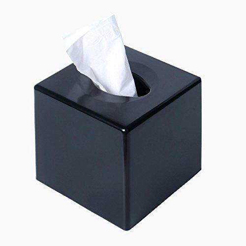 Taschentuchbox Halter Kleenex Serviette Halter Badezimmer Organizer cube - platz (schwarz)