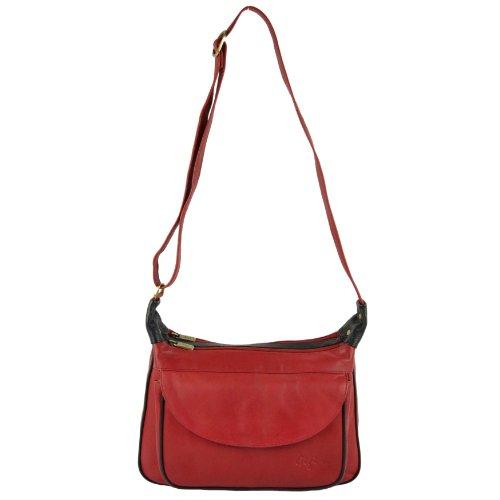 spalla nero Gigi donna amp; Borsa Multicolore Borsa donna a Rosso Multicolore Rosso a Gigi spalla q1wzHxY