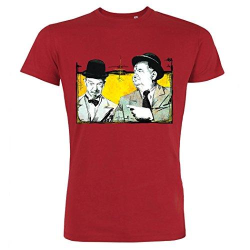 Pushertees - T-Shirt Uomo Rossa LTB-80 STAN OLIVER