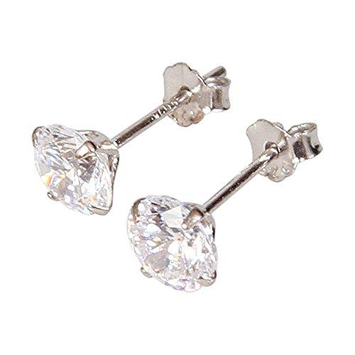 925-sterling-silver-diamond-cut-cubic-zirconia-stud-earrings-4mm-5mm-6mm-clear-stones-or-black-stone