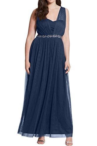Royaldress Weinrot Herrlich Breiter Traeger Abendkleider Brautmutterkleider Ballkleider Langes A-linie rock Navy Blau