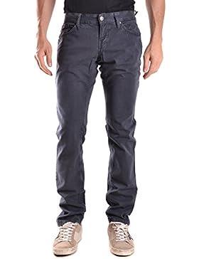 Richmond Hombre MCBI256108O Azul Algodon Pantalón