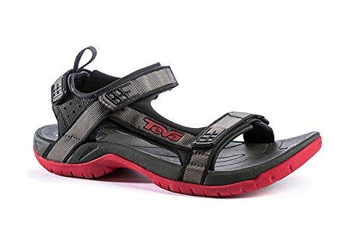 Teva Tanza M's 9033 black red (792) US 8 EU 40,5 UK 7 Herren Trekking Sandale Männer Outdoor Sandalen