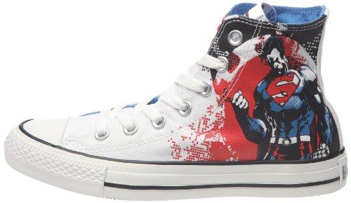 Converse Ct Superm Fl Hi, Sneaker Donna Weiß/Rot/Blau