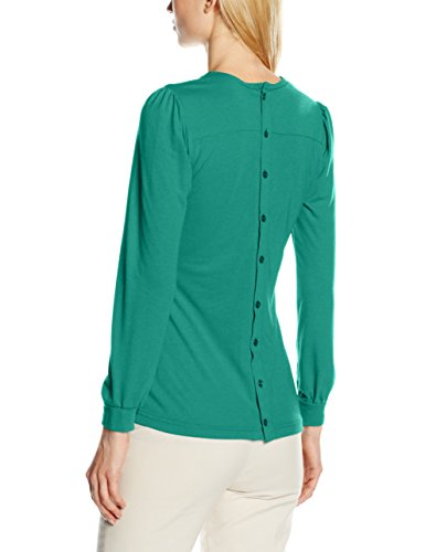HotSquash Damen Top Pleat Front Grün (Emerald Green)