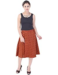 Indi Bargain Cambric Cotton Wrap Around Medium Length Skirt (462)