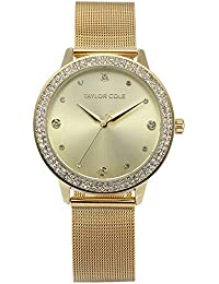ff614fee41a5 Taylor Cole TC072 - Reloj Mujer Cuarzo de Acero Inoxidable Dorado