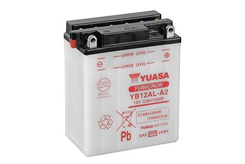 Batteria YUASA yb12al A2, 12V/12AH (dimensioni: 136X 82X 162) per BMW F650GS/Dakar/GS Dakar anno di costruzione 2002