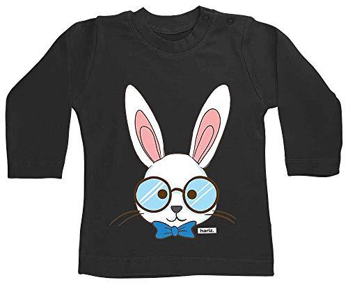 Kostüm Fetisch Tier - HARIZ Baby Shirt Langarm Hase Mit Brille Süß Tiere Dschungel Plus Geschenkkarte Pinguin Schwarz 18-24 Monate