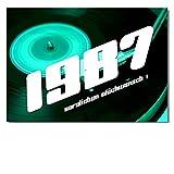 DigitalOase Glückwunschkarte 1987 31. Geburtstag Geburtstagskarte Grußkarte Format DIN A4 A3 Klappkarte PanoramaUmschlag #VINYL