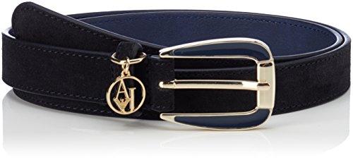 Armani Jeans Damen Gürtel Tongue Belt, Blau (Dark Navy 31835), 75 (Herstellergröße: I)