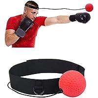 PROKTH Balle de réflexe de Boxe, kit d'équipement de Boxe Serre-tête Cadeau d'entraînement Adultes/Enfants visant à améliorer Leur Vitesse 1pcs