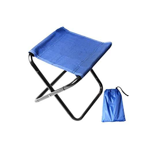 Hengtongtongxun Fischen im Freienfreizeit-faltender tragbarer Stuhl Art Sketch Chair Train Small Bench (Color : Blue)