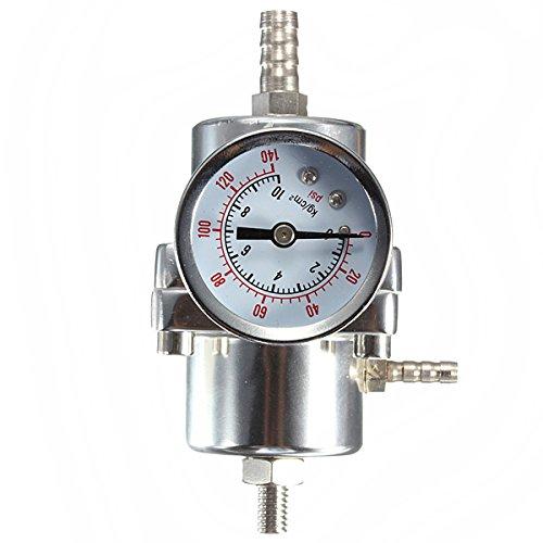 Universal- Silber Einstellbare Druckregler 0-140PSI Stahlmesser