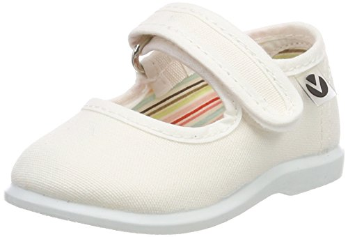 Victoria Mercedes Velcro Lona, Zapatillas Unisex bebé, Blanco, 19 EU