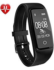Activity Tracker,Yamay HR3 Fitness Tracker con Cardiofrequenzimetro da polso Orologio Contapassi Bracciale Fitness,Impermeabile IP67 Braccialetto Fitness Bluetooth Smart Band Pedometro Compatibile per Android e iOS Smartphone