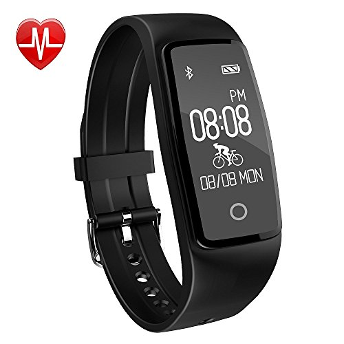Activity Tracker,YAMAY® HR3 Fitness Tracker con Cardiofrequenzimetro da polso Orologio Contapassi Bracciale Fitness,Impermeabile IP67 Braccialetto Fitness Bluetooth Smart Band Pedometro Compatibile per Android e iOS Smartphone