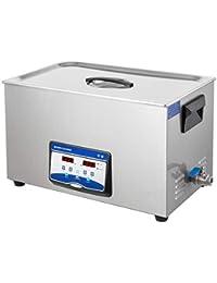 VEVOR 15L 20L 22L 30L Limpiador Ultrasónico de Doble frecuencia, Limpiador de Joyas, Máquina Ultrasónica, Limpiador Sónico, Digital