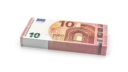 Cashbricks 100 x €10 Euro Spielgeld Scheine - verkleinert - 75{751720f7ee4fc1eec1d2b6ac66ed8cccc8f070c278a9b527f43788a2dde2b690} Größe