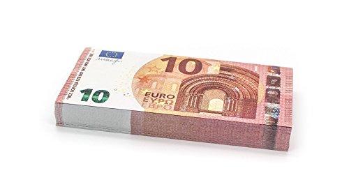 Cashbricks 100 x €10 Euro Spielgeld Scheine - verkleinert - 75{d3702660239ededea2b6691d671ef5a74158f0201bdfe5251b726bd38516354e} Größe