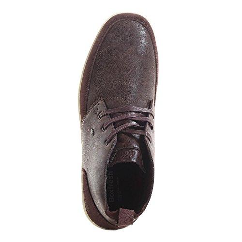 Boxfresh SYMMONS BLOK WKH LEA/SDE Sneaker da uomo choc brn