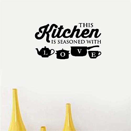 pegatinas decorativas pared Cocina Pot Cup Quote Love Interior Moderno Ventana Especial Decoración para el Hogar Regalo