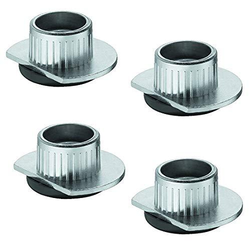 Gedotec PROFI Sockelfuß Möbelfüße verstellbar zum Einbohren & Schrauben | Tragkraft 400 kg | Sockelverstellfuß Stahl massiv | +10 mm höhenverstellbar | 4 Stück