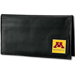 NCAA Minnesota Golden Gophers Deluxe Leather Checkbook Cover