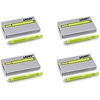 Lamy T10 - 4 Confezioni di cartucce di inchiostro per penna stilografica, Special Edition 2015 colore Neonlime. - Casi Fountain Pen