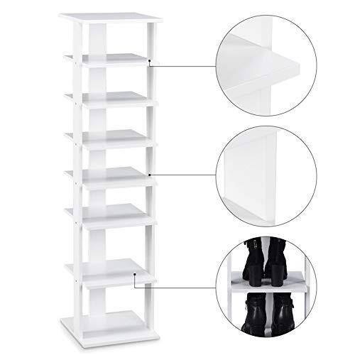 YYMMQQ Schuhregal Mordern 7 Tier Schuhe Rack Shelf Organizer Praktische freistehende Regale Ablage Regale Schrank Wohnzimmer Möbel Schuhschränke aus Möbel -
