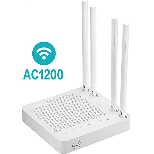 KAIDILA Router, a702r Wireless Wifi Router AC1200 Smart Dual-Band 2.4g/5.0ghz WLAN-Repeater, unterstützt Multi-Ssid/Iptv, Einfache Einrichtung
