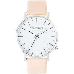 Thread Etiquette Minimalist Watch Silver Tone/Sand 267
