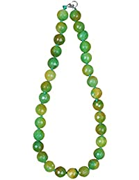 Sansar India Natural Stone Beads Traditional Necklace For Girls And Women