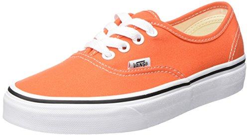 Vans Authentic, Scarpe da Ginnastica Basse Unisex – Adulto, Arancione (Flame/True White 2w1), 38 EU