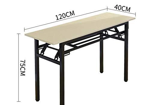 GWM 4-Personen Klapptisch Rechteckigen Trainingstisch Stall Tisch Outdoor Studie Schreibtisch Konferenztisch Schreibtisch Lange Tisch (120 cm * 70 cm...