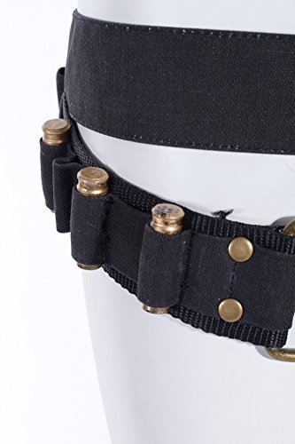 Steampunk Baumwoll-Gürtel mit Tasche und Pistolen-Kugeln, Farbe:Braun Grün
