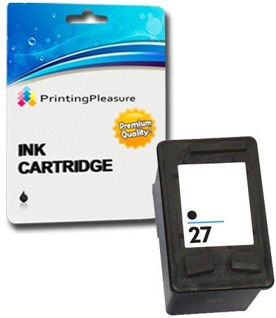 Printing Pleasure Druckerpatrone kompatibel zu HP 27 Schwarz für Deskjet 3320 3420 3550 3650 3740 3840 5150 5160 5650 5850 Fax 1240 Officejet 4200 4215 6110 PSC 1100 1110 1210 1215 1310 1315 (Hp Schwarz 28 Drucker Tinte)