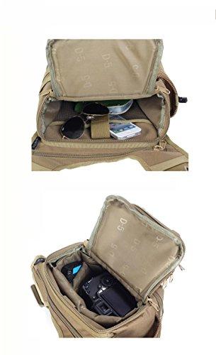 20L Liter wasserdichte Tasche, SLR Kamera Camo Geldbörsen, IPAD Tasche, Wandern zu Fuß Digital Camo Taschen, Taschen, Geldbörsen Fahrrad camping Khaki