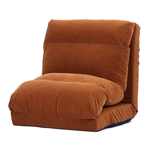 JBFZDS Boden Stuhl, Faul Sofa Kreative Tatami Schlafsofa Multifunktions-Einzelsofa Klappboden Sofa, 220 × 60 × 15cm (Color : Brown)