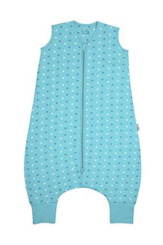 Preisvergleich Produktbild Schlummersack Schlafsack mit Füßen ganzjährig in 2.5 Tog - Teal Stars - 18-24 Monate/90 cm