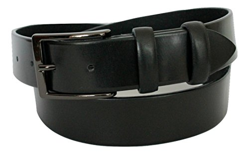 ITALOITALY Men's Belt, genuine leather, black, 35 mm wide, Made in Italy, can be shortened