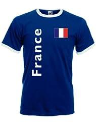 France / Frankreich Herren T-Shirt Retro Trikot|