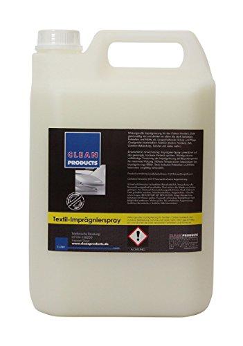 Clea-nPro-ducts--Impermeabilizzante-5-litro--wirkungsvolle-impregnazione-per-capote-Cabrio-Softtop-Tessile-Uso-come-impraegnier-Spray